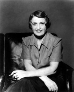 Ayn Rand1 by I looked at the photograph you mentioned at Wikipedia[...] It was taken by Phyllis Cerf (April 13, 1916– November 25, 2006), and I believe we obtained permission to use it in some cases long ago from her son